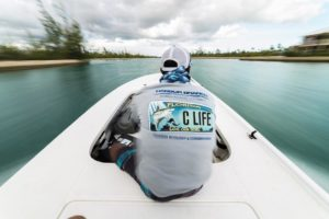 We spend alot of time buzzing around the island, looking for schools of bonefish…