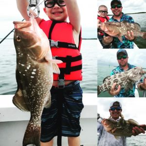 Backcountry Grouper Bonanza Today with a Great Family.      …