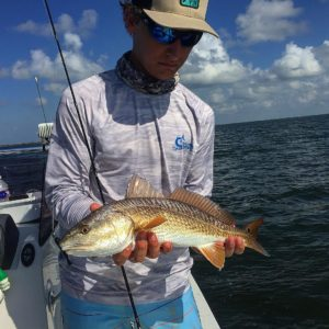 Bunch of these little reds today but still a fun day on the water      …