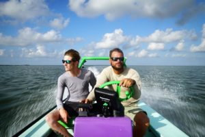 Went out on the flats with  and  today in his rad purple skiff. Found some fish …