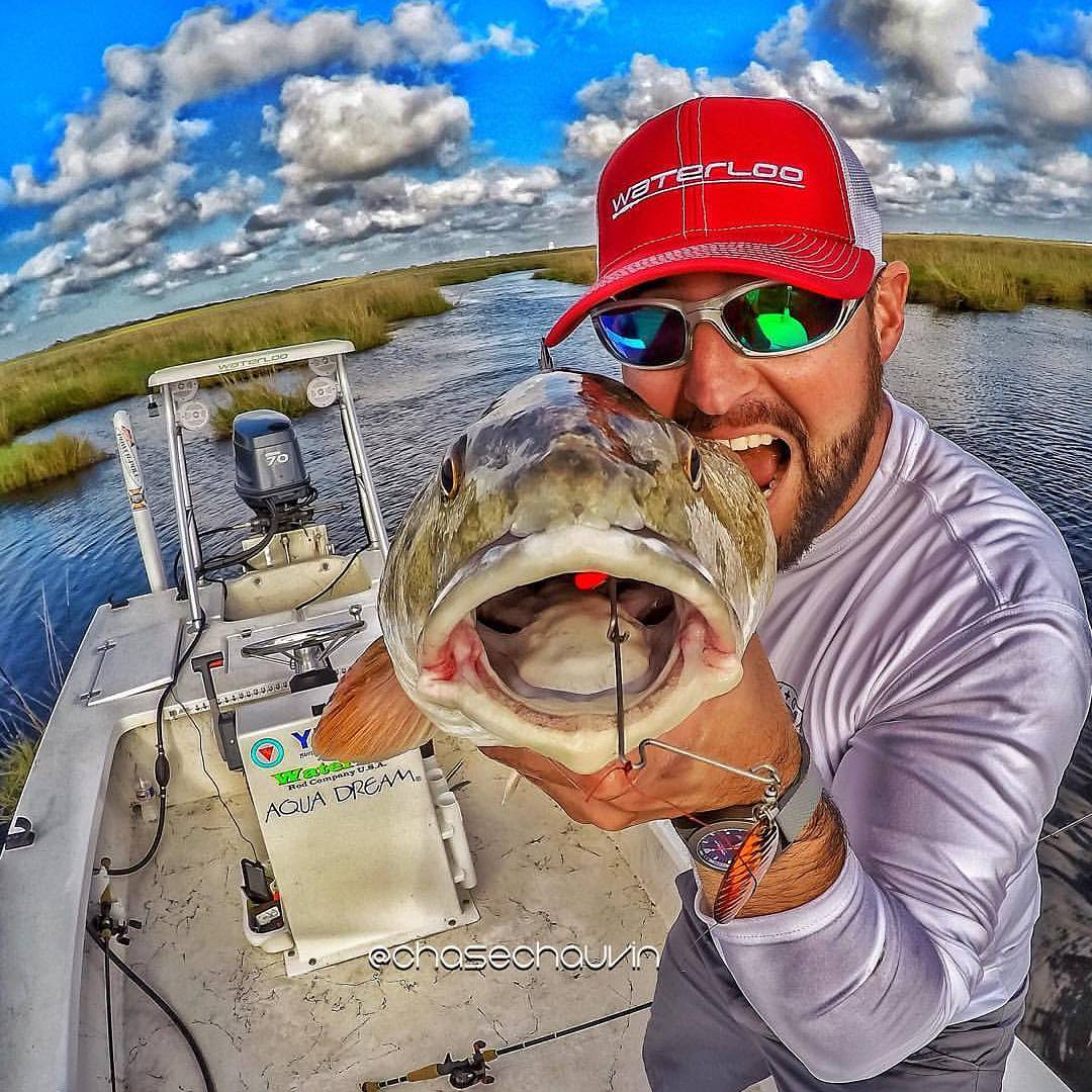 Open up wide!  Redfish are constantly inhaling these  spinnerbaits!