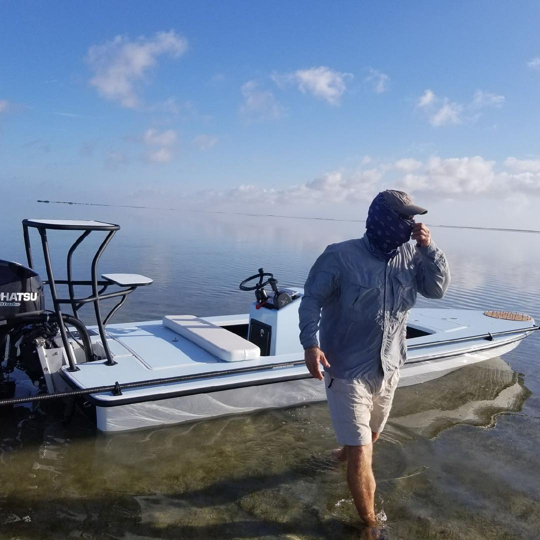 Chittum Skiffs Laguna Madre 18 heading to Texas