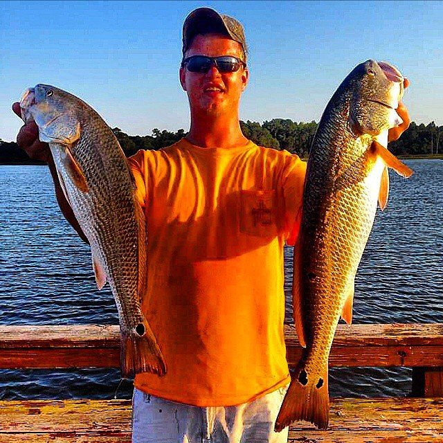 "22"" and 27"" Redfish double-fisted!"