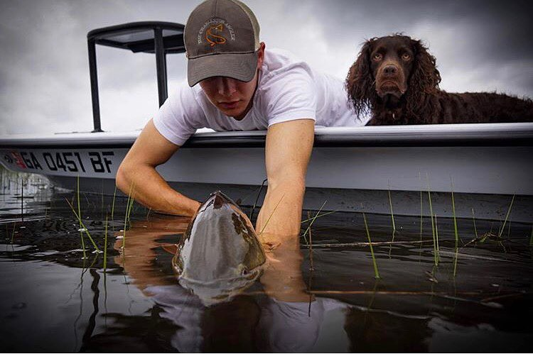 A skiff, a pup, and some beefy tailers. What more can you ask for?  •••      ...