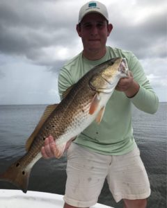 Day 2 for  down in Louisiana. He pulled in a nice bull red!        …