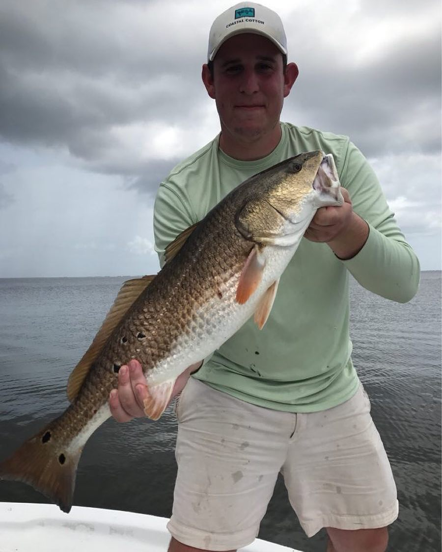 Day 2 for  down in Louisiana. He pulled in a nice bull red!        ...