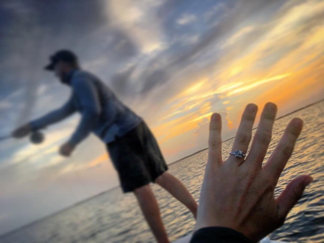 Enjoying the first sunrise as engaged  W/  . . .  ...