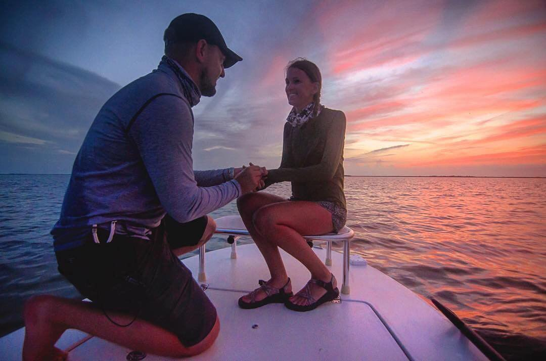 Marriage Proposal. Skiff Style. Congrats!
