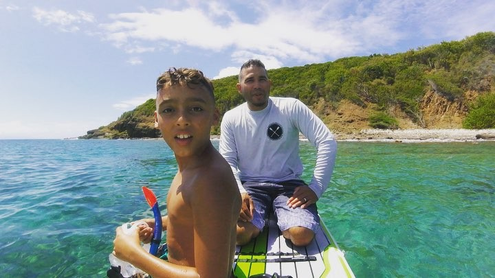 Snorkeling Punta Soldado Beach Culebra,PR. Took one of our Inflatable go anywher...