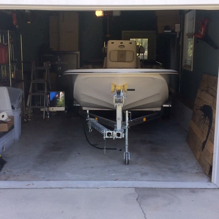 This guy didn't let his  stop him from getting a boat!  made him a  removable gr...