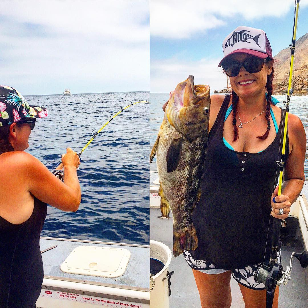 is on Top of her game! with Her First Mate  on this expedition... fishing our T...