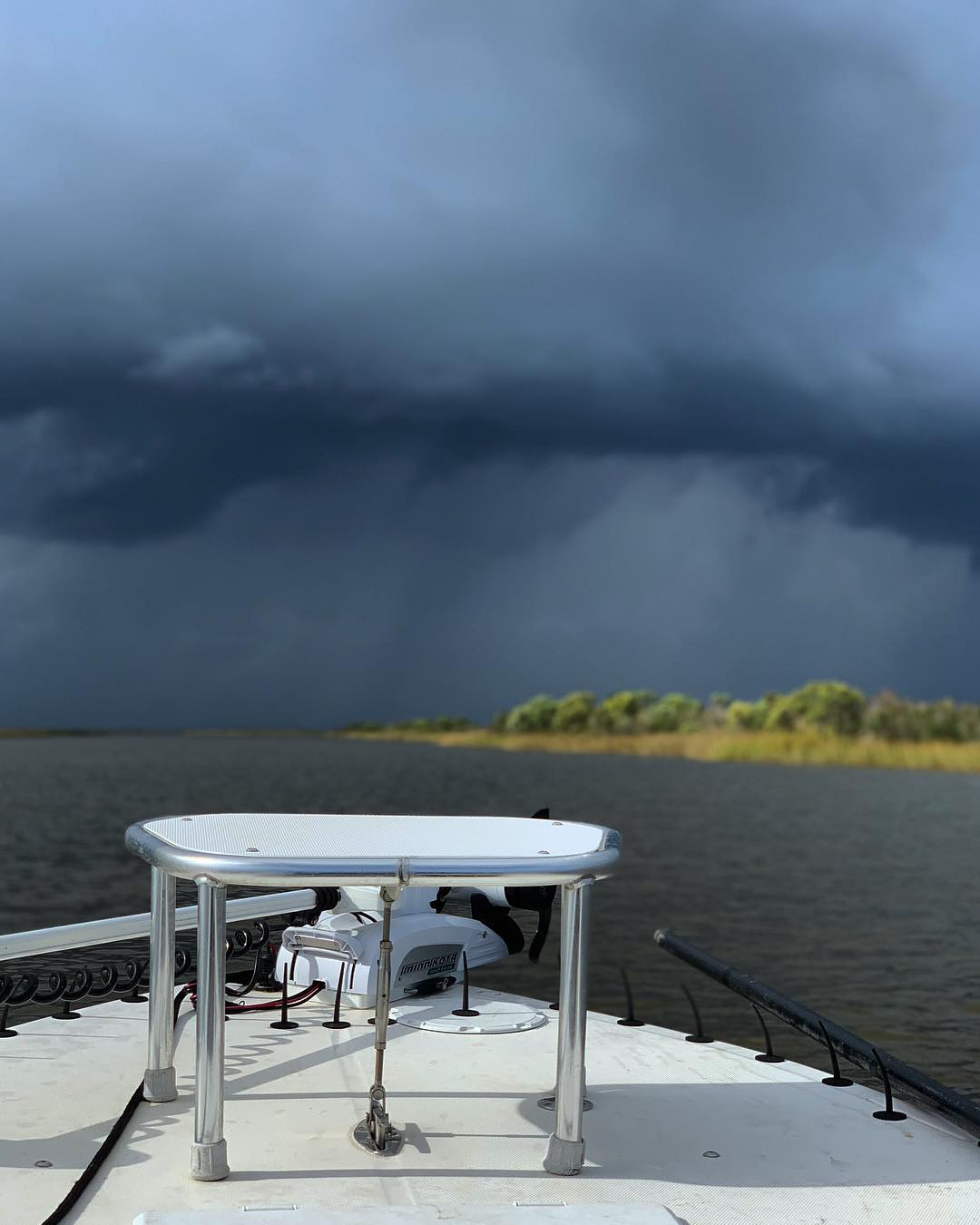 Good time stalking bull redfish and dodging storms