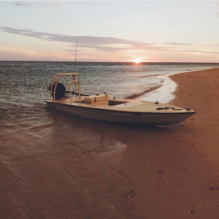 Beautiful Mangrove Bay Skiff Sunset
