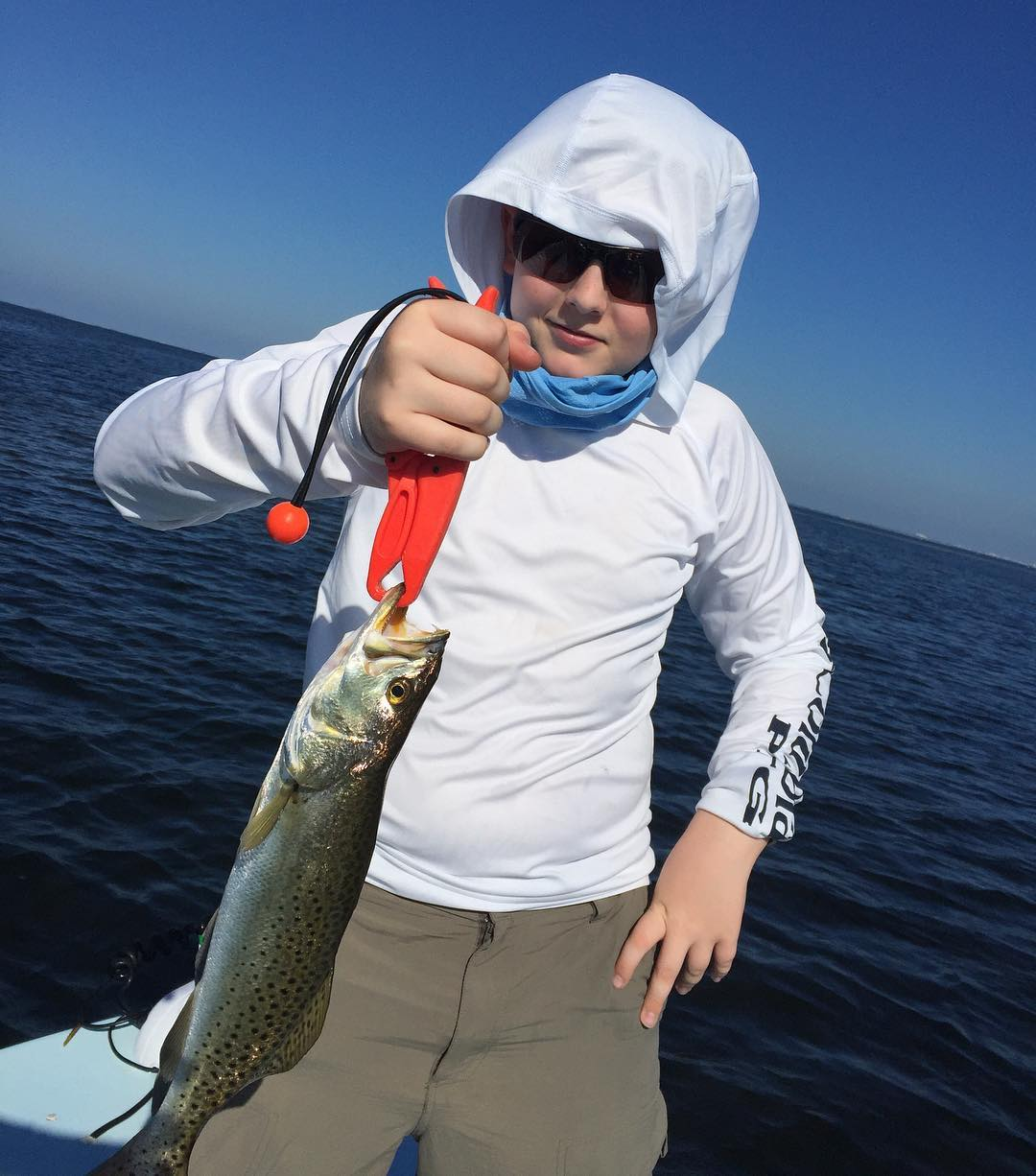 "Zman ez shrimpz made Fishing easy today. We were catching 14""-16"" trout all day!"