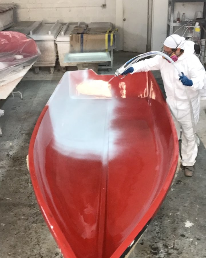 How to paint a boat in 15 seconds.
