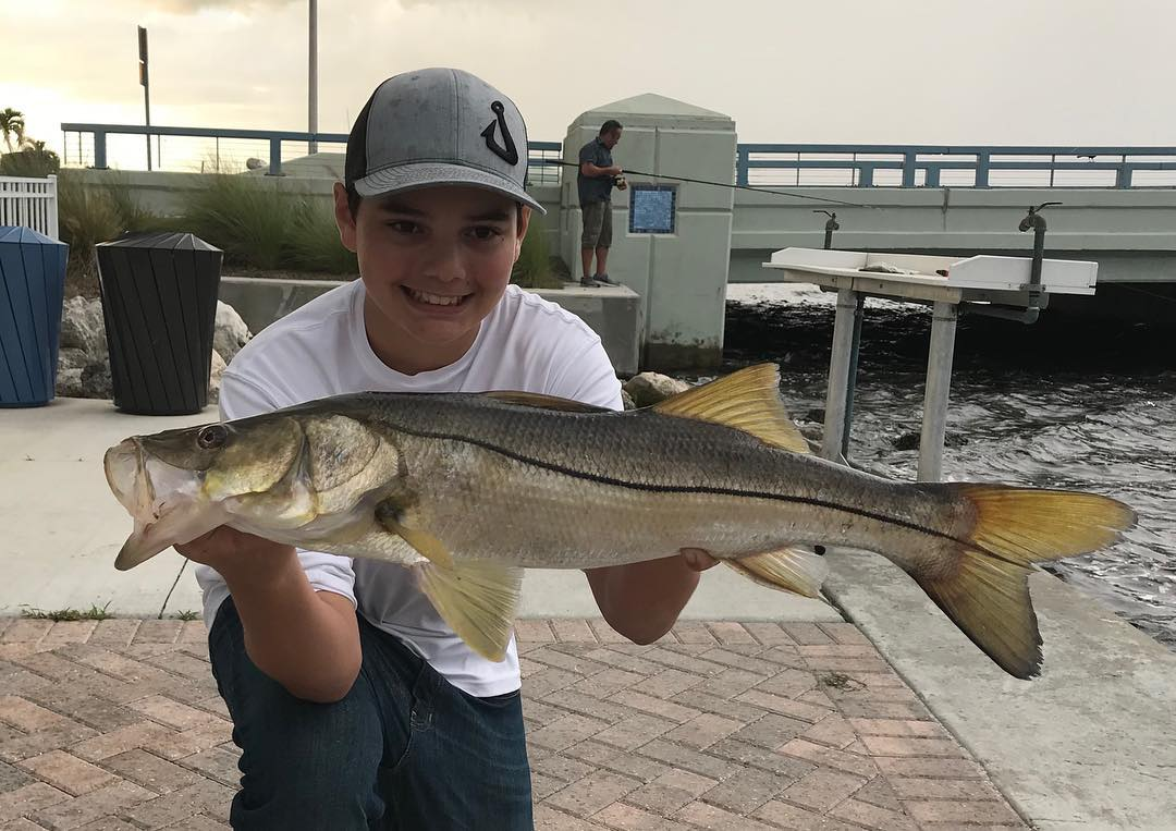 Nice to catch some snook with  as he was getting destroyed in the back round