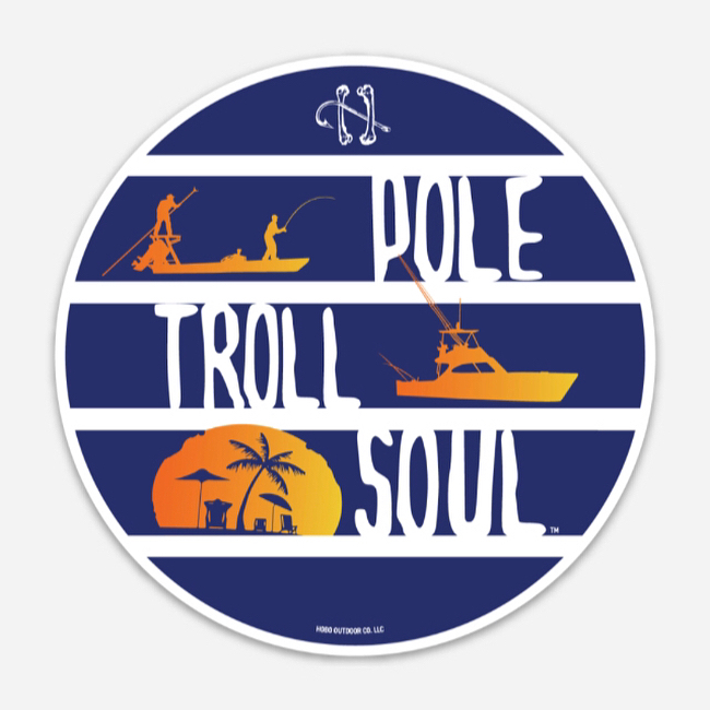 Pole-Troll-Soul A Hobo Outdoor Co. original design. We have t-shirts and sticker