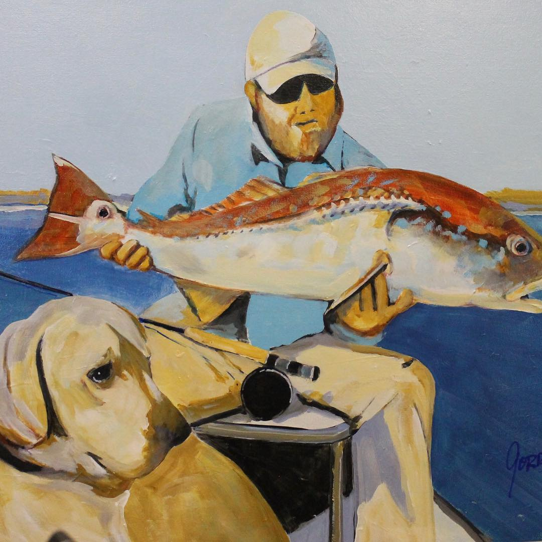 A guy, his dog and a redfish. It's a catchy title, don't ya think?