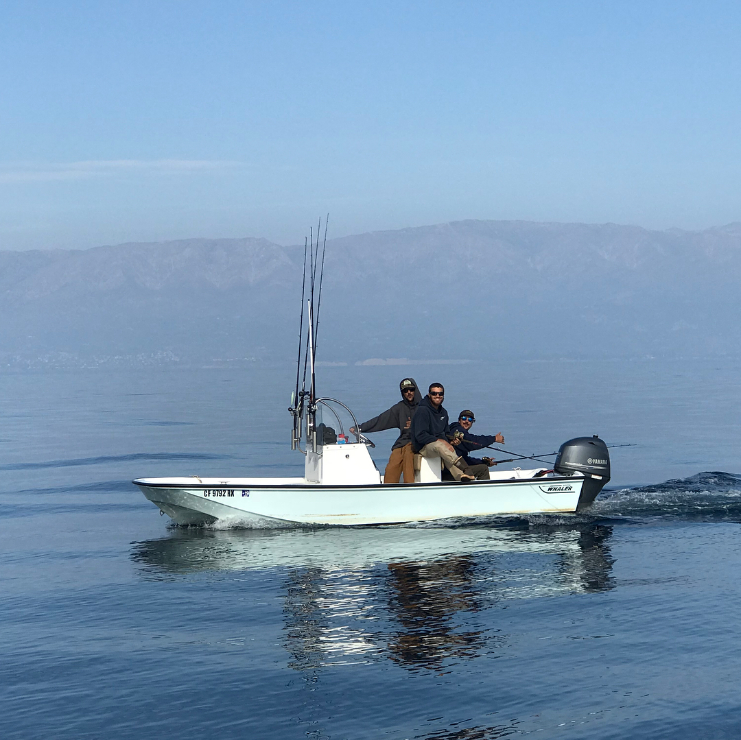 Great times on the new skiff ! Fun local fishing with the boys !