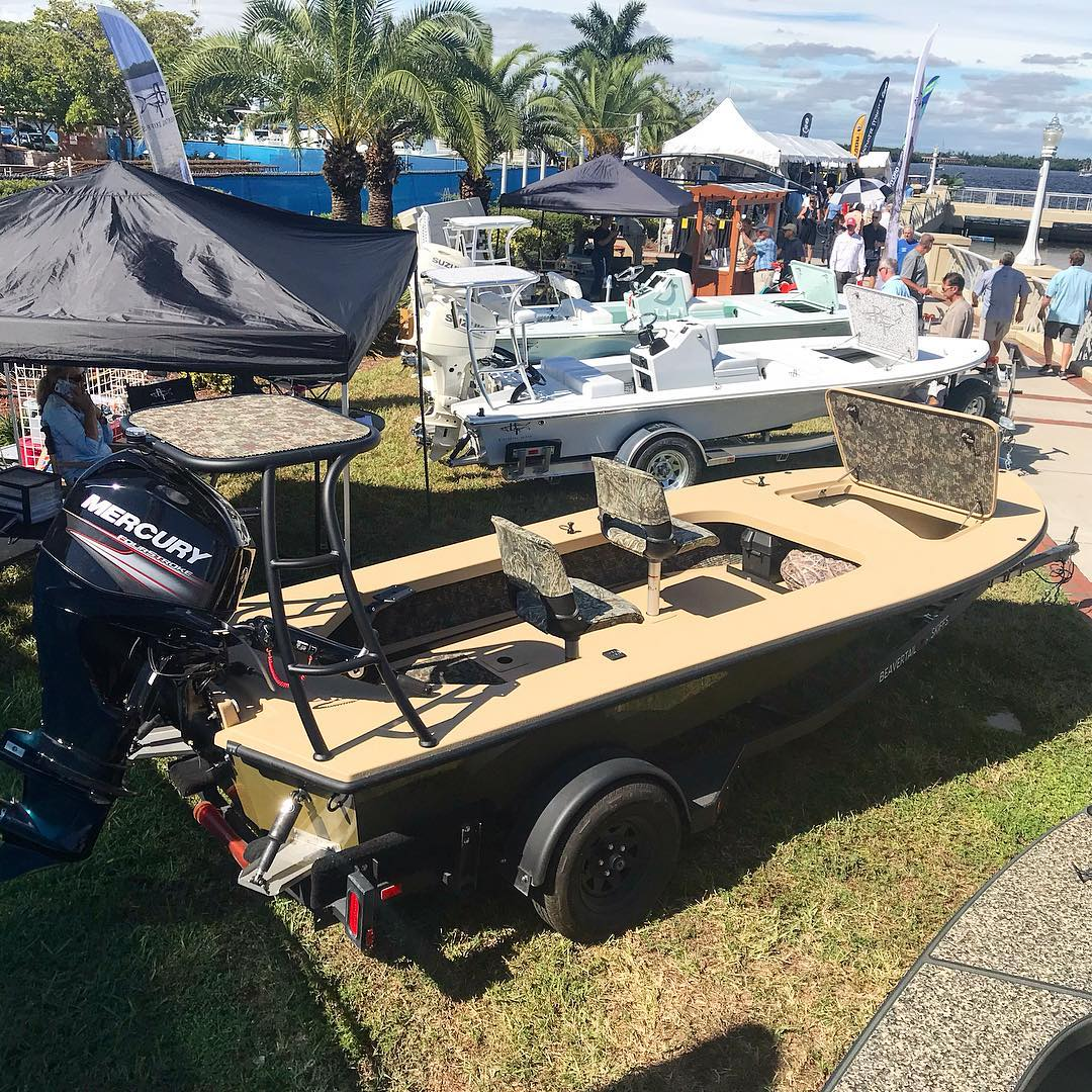 Too cold to fish so come check out the new  at the Ft Myers boat show instead.