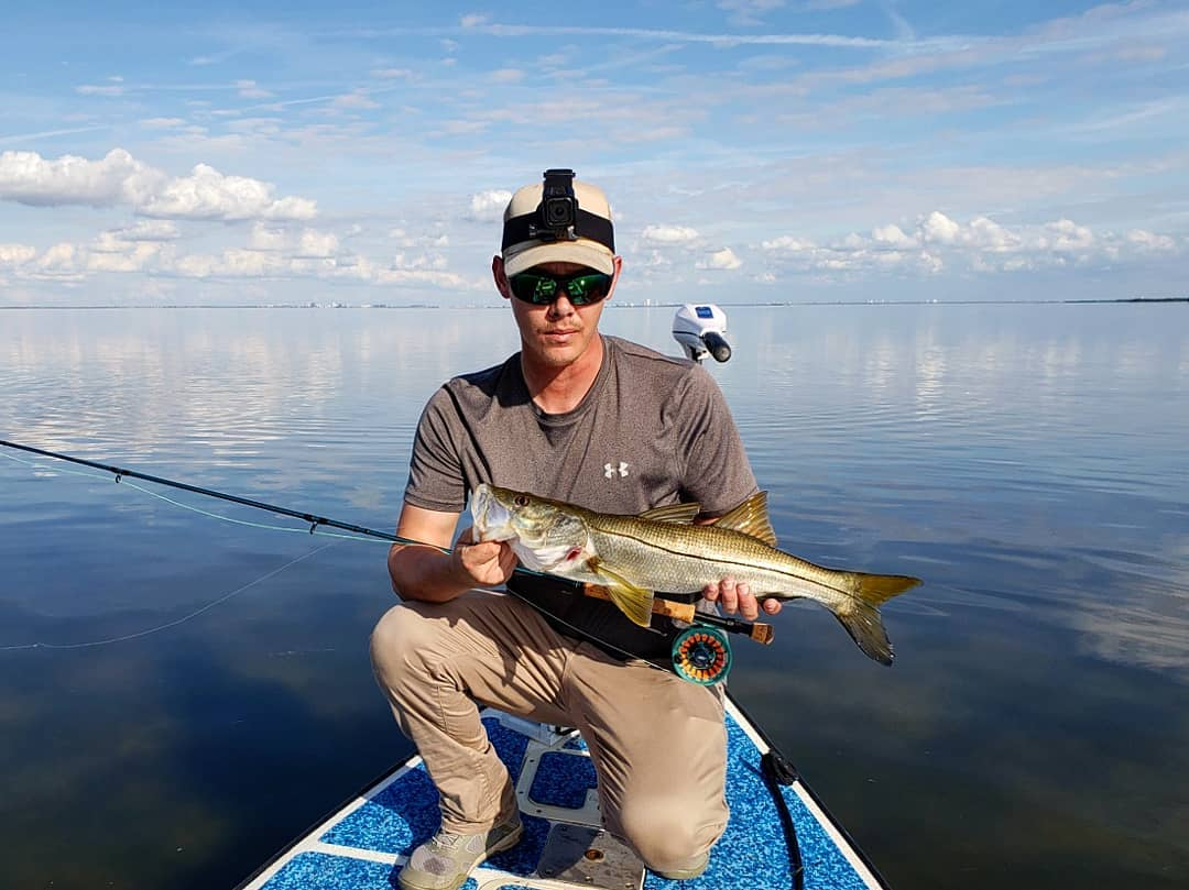 Great day on the water with   We saw an unreal amount of snook and redfish today