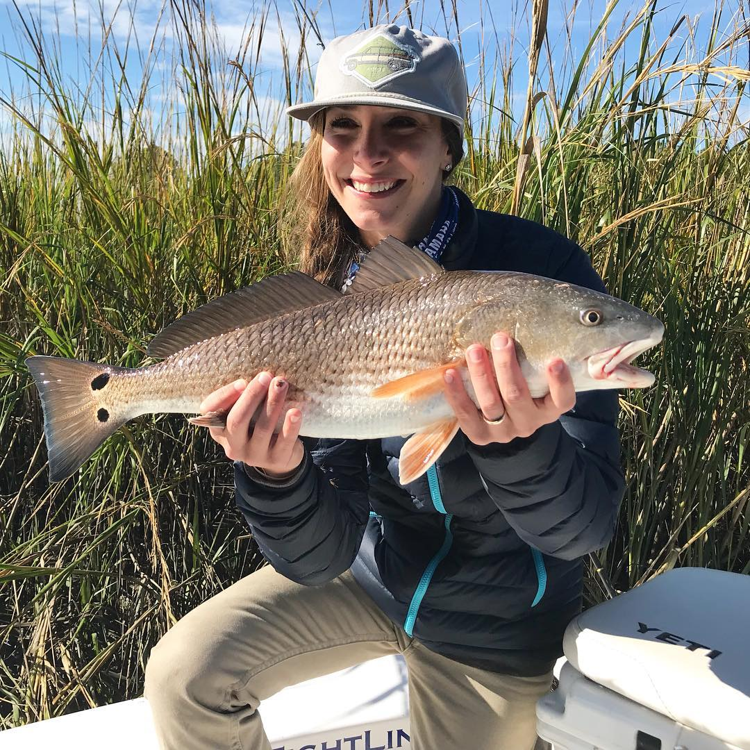 Capt. Jesse with some great redfish