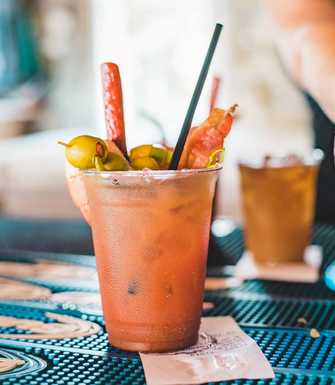 The signature trailer trash Bloody Mary has everything but the kitchen sink