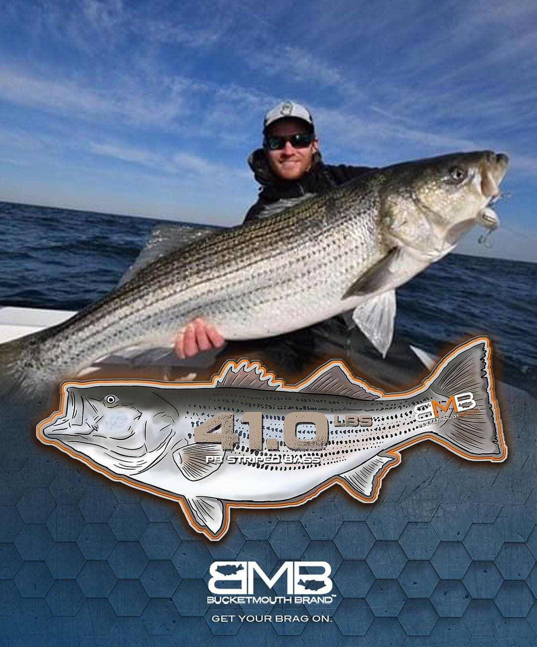 Friday Fatty!  caught his 41 lb. pb monster striper on top water! That's worth b