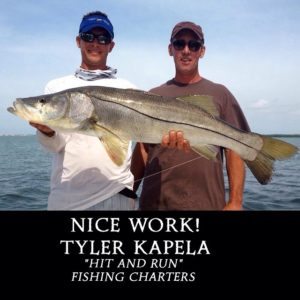 """FINnnnnTASTIC! Tyler Kapela with """"Hit and Run"""" Fishing Charters got client Jed o…"""