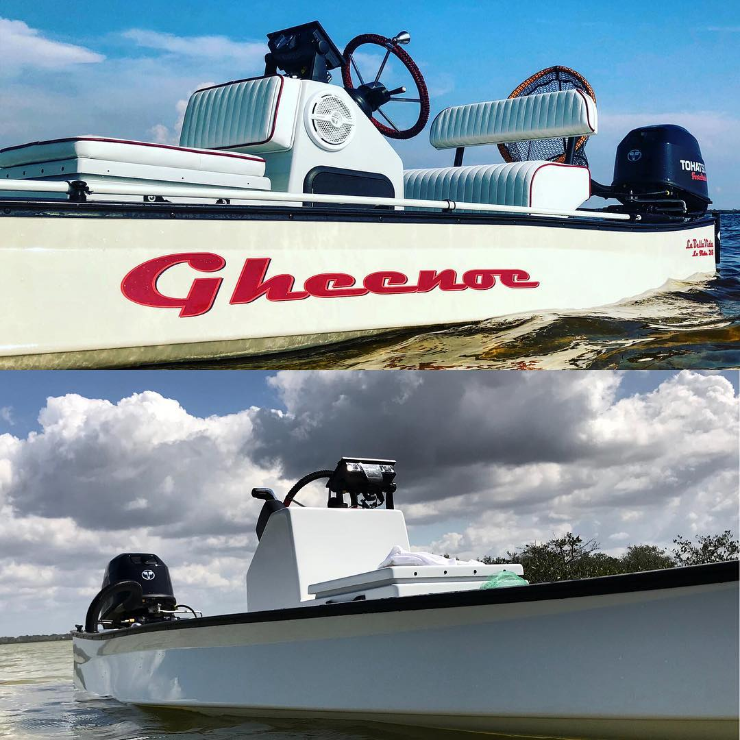 Transformation Tuesday! Started from the bottom! We built this gheenoe from scra