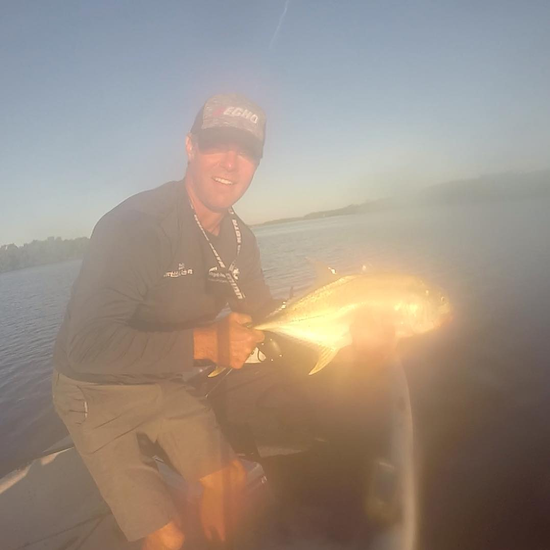 Crappy picture but fun fish to catch.  I threw a topwater plug into the crazy su