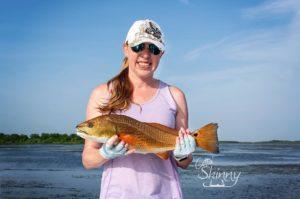 Nicole with a nice slot redfish!