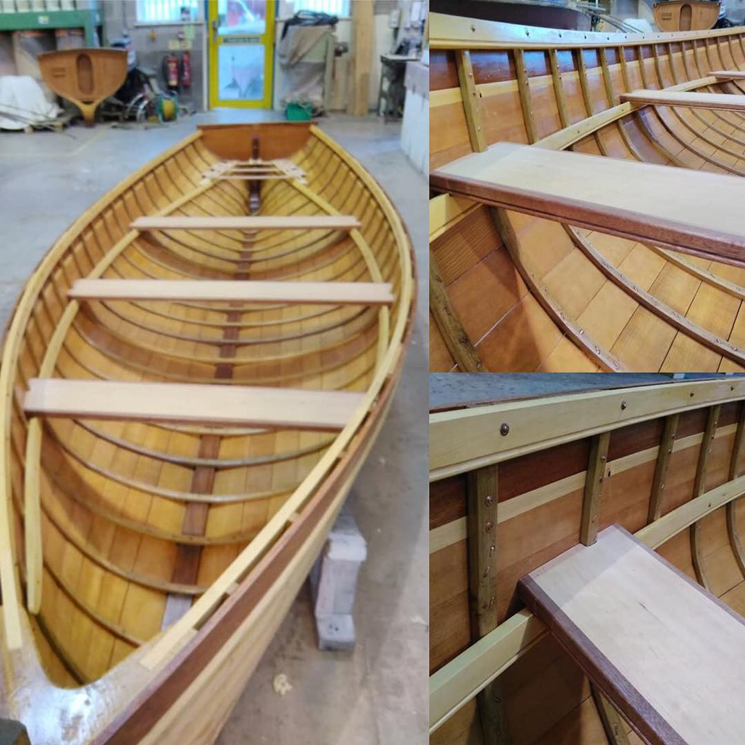 A little more progress on the Skiff.  The three thwarts have now been fabricated