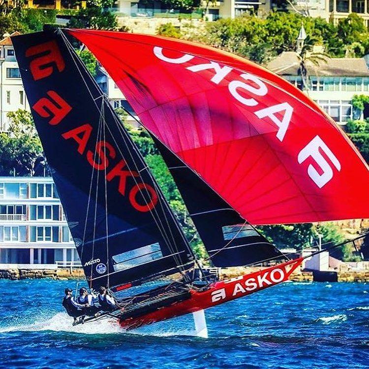 Race 5 winners: Asko Appliances 18ft Skiff team  - James Dorron  Harry Bethwaite