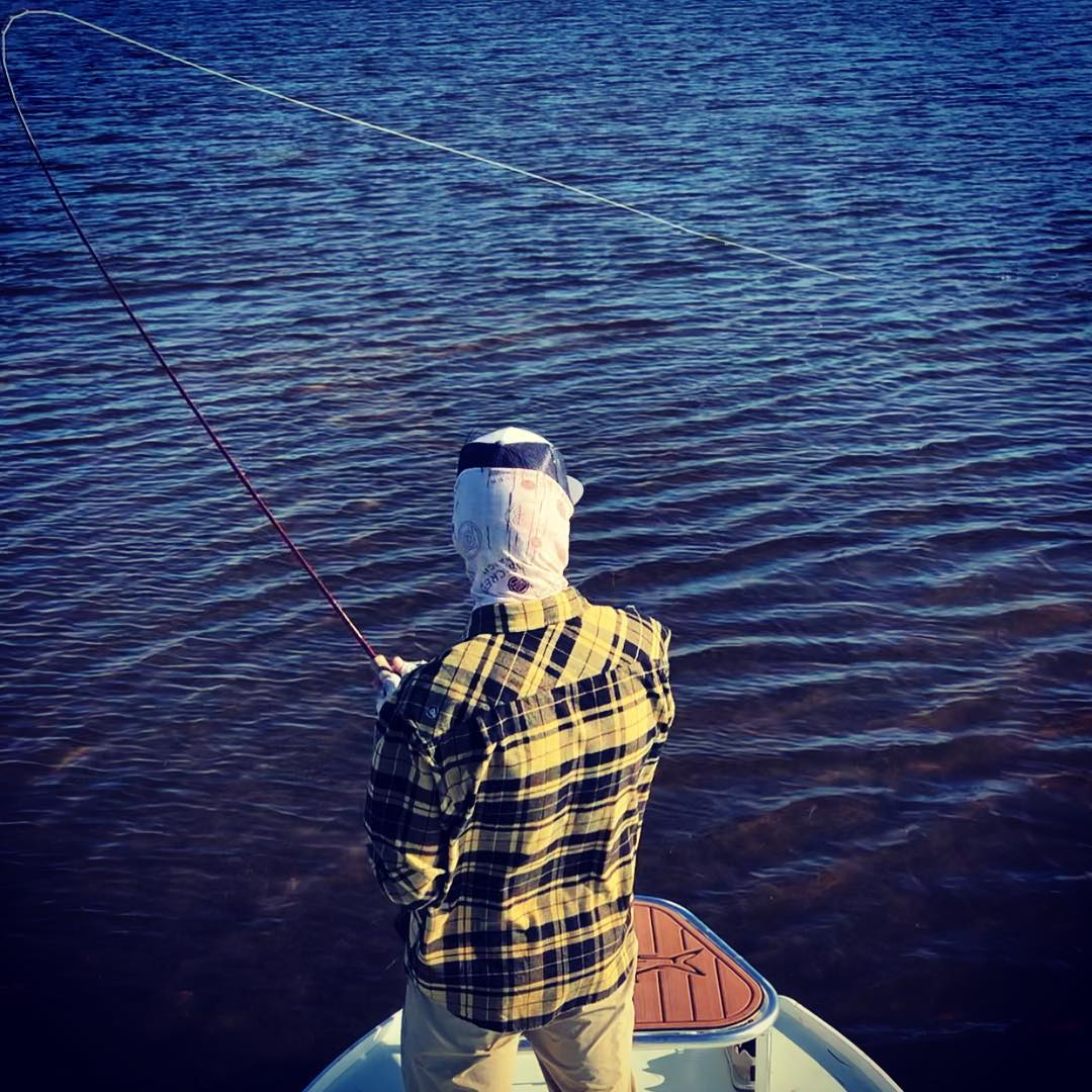 Here's to that split-second instant when a redfish sees a fly, turns his head, a