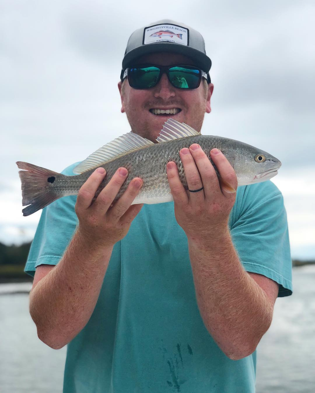 Pierre's having a difficult time putting the redfish down to fish for trout • •
