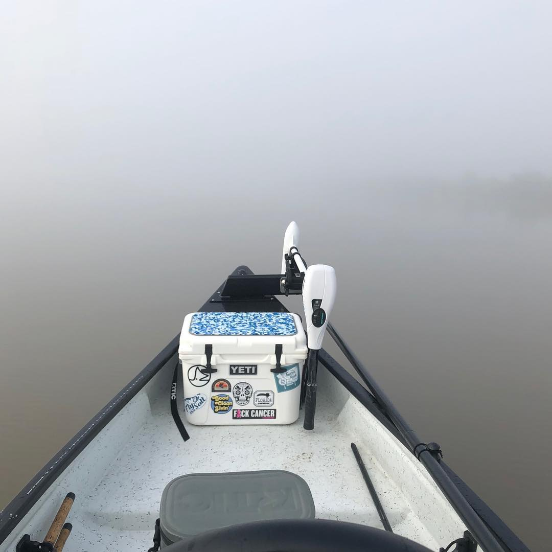 A successful maiden voyage in the Gheenoe. Everything ran great. Super foggy all