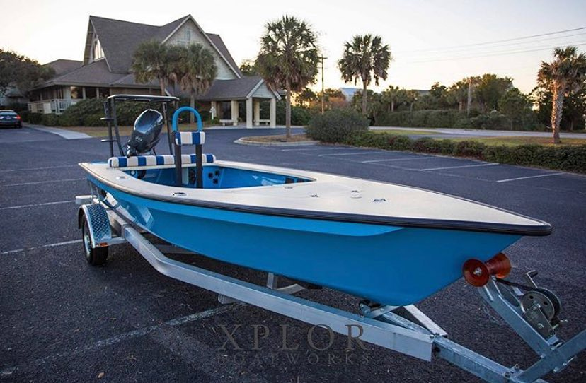 @xplorboatworks awesome blue skiff option