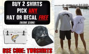 Our Best Quality Fishing Shirts at Great Prices…buy 2 Shirts, pick ANY hat or de…