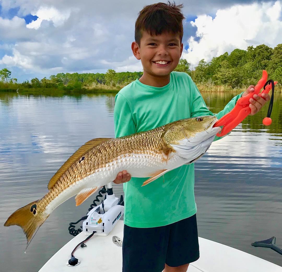 First Time Redfish #TakeAKidFishing