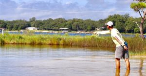 Being able to get out of the skiff and chase red fish is not all that common wit