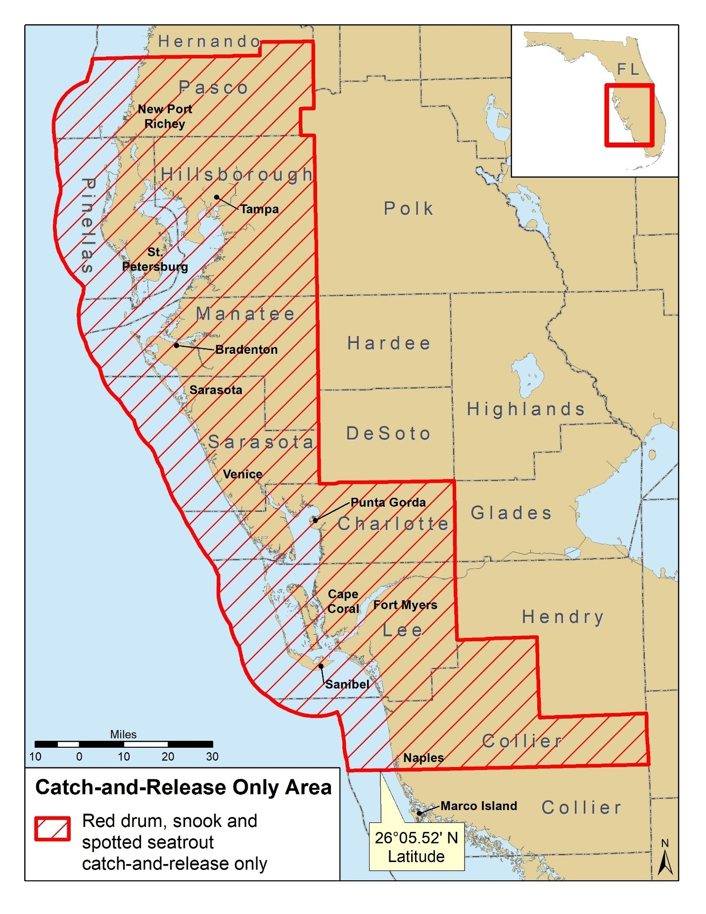 Snook, Redfish and Trout closures for parts of Florida
