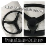 We're proud to announce our Matt Finish option for the three spoke 13 1/2 gemlux