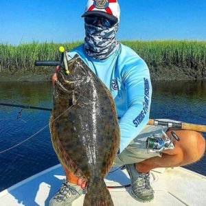 Nice flounder with a face full of jewelry