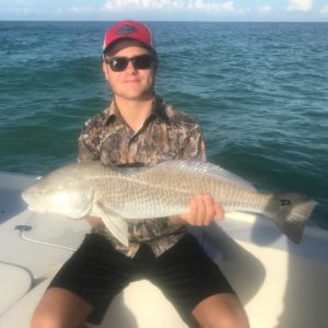 This is one lucky redfish! Look at that bite!