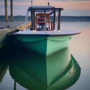 @brianvaughn in his beautiful new @drakeboatworks skiff!