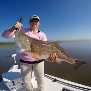 Carrie landed her personal best redfish!