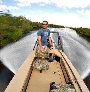 "The new 16'6"" predator doing skinny things in the mangroves."