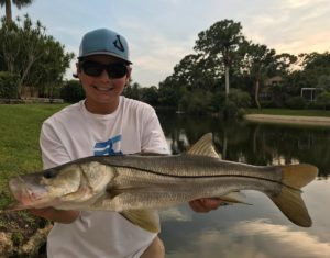 Joey on the snook!