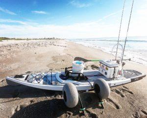 Beach launching for Tarpon.